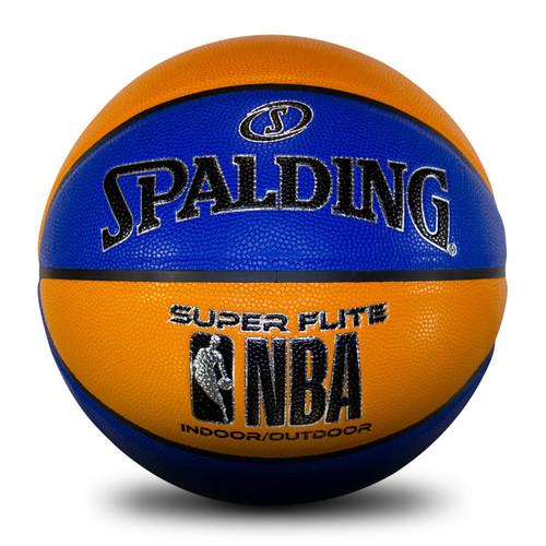 Spalding NBA Super Flite Blue/Orange Basketball - Size 7