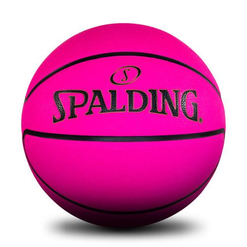 Spalding Fluro Pink Rubber Basketball - Size 6