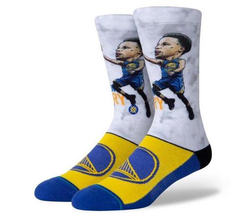 Stance BIG Head NBA Steph Curry GSW Socks