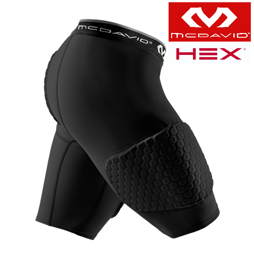 McDavid Hex Technology 3 Pad Basketball Protective Shorts