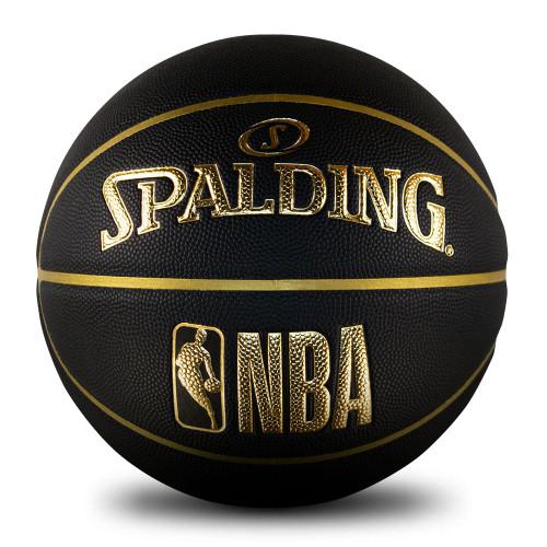Spalding NBA Logoman Black Gold Edition Basketball