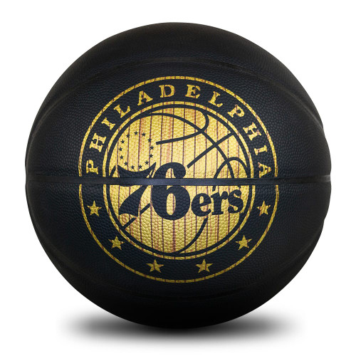 Philly 76ers Hardwood Classic Ball front