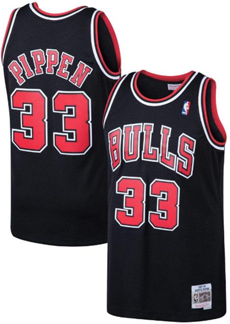 Scottie Pippen Chicago Bulls Mitchell & Ness 1997-98 Hardwood Classics Swingman Jersey - Black - Rear