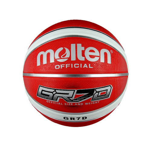 Molten Red & White GR7D Size 7 Outdoor Rubber Basketball