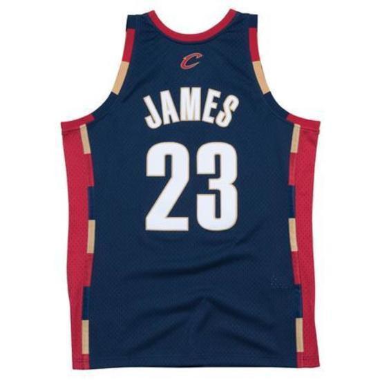 half off 7e79b b2190 LeBron James Cleveland Cavaliers Mitchell & Ness 2008-09 Hardwood Classics  Swingman Jersey - Navy
