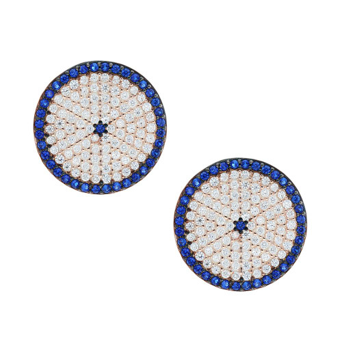 Turkish Blue Evil Eye Earrings