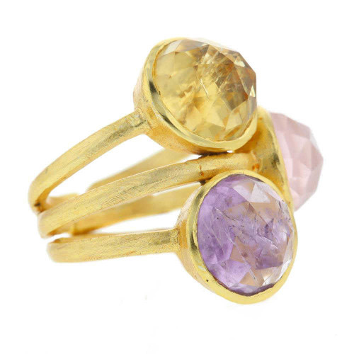 Makenna Three Gem Ring