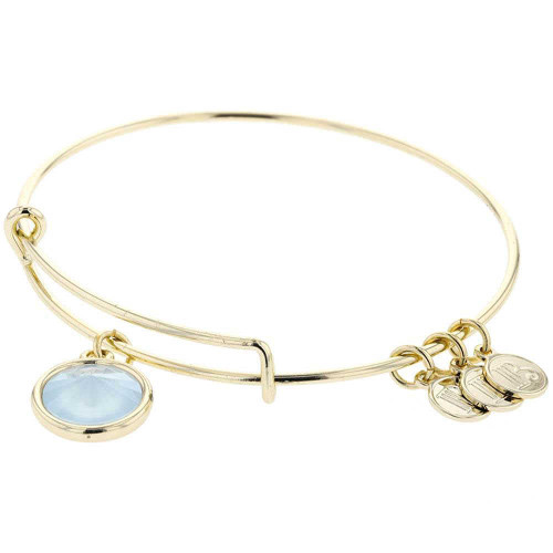 Powder Blue Charm Bracelet Gold Plated