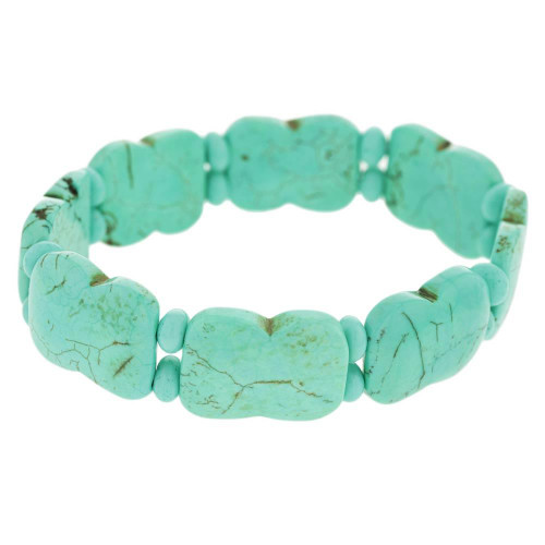 Teal Magnesite Bangle Bracelet