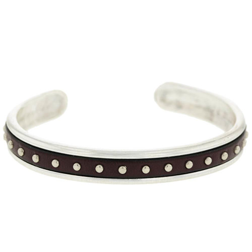 Brown Studded Cuff