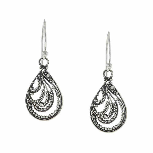 Bali 925 Silver Teardrop Earrings