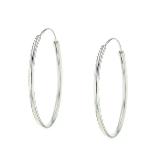Bali Silver Hoop Earrings