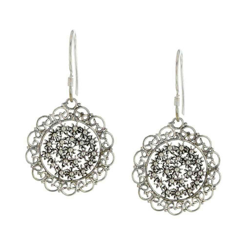 Bali Flower Cluster Earrings