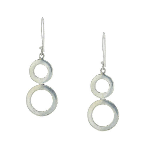 925 Silver Bali Circle Drop Earrings