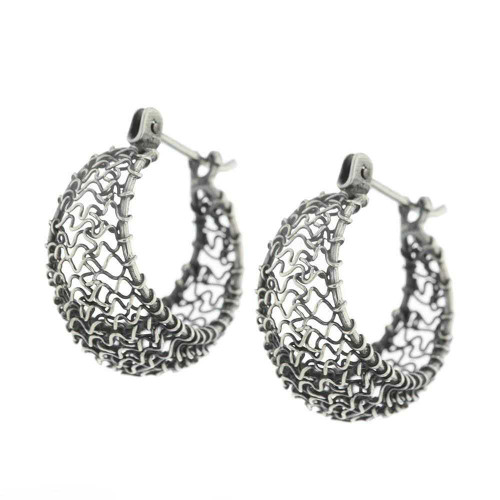 Bali 925 Silver Hoop Earrings