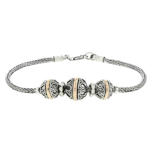 Bali Ball and Chain Silver Bracelet