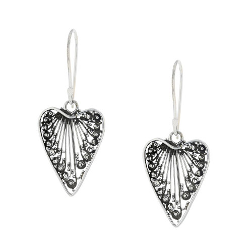 Delicate Bali Heart Earrings