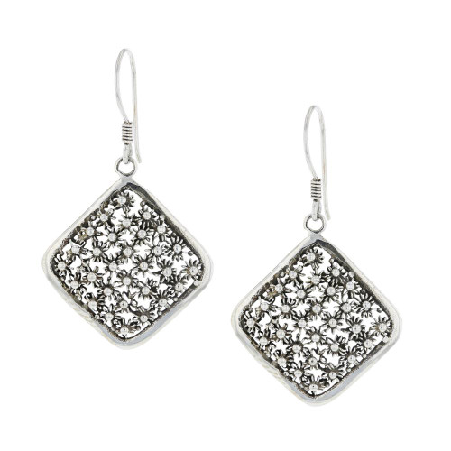 925 Silver Bali Cluster Earrings