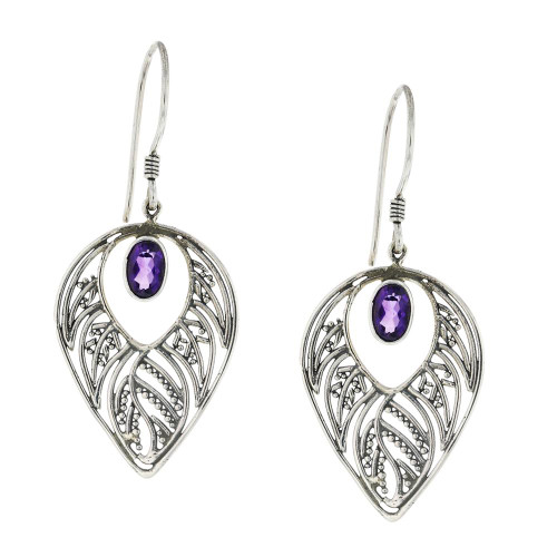 925 Silver Bali Eternity Earrings