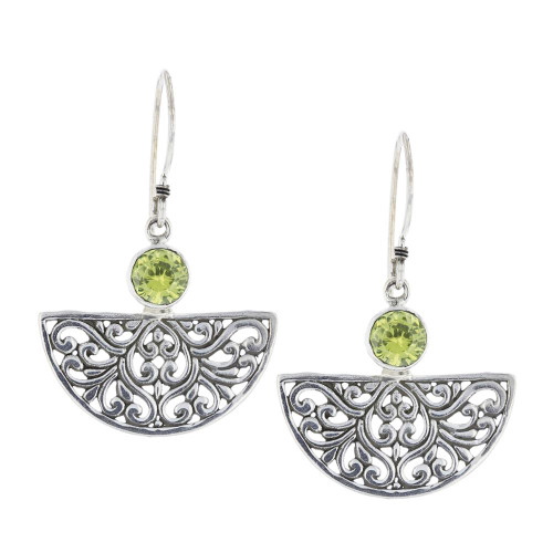 925 Silver Bali Botanical Earrings