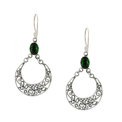 925 Silver Bali Evergreen Earrings