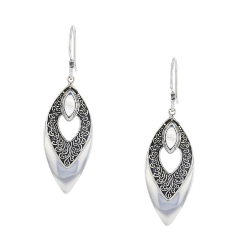Bali 925 Silver Moonstone Intuition Earrings