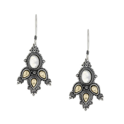 Bali 925 Silver Moonstone Dream Earrings