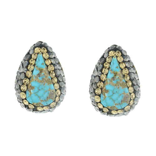 Turkish Turquoise Gold Plated Studs