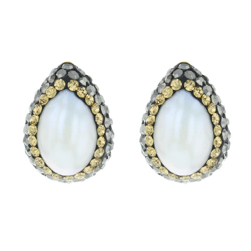 Turkish White Pearl Gemstone Studs