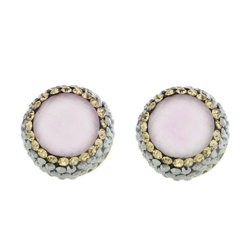 Turkish White Gemstone Studs