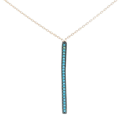 Blue Vertical Bar Necklace