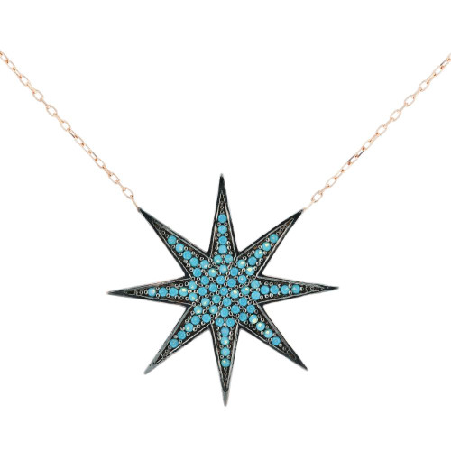 Turkish Stardust CZ Pendant Necklace