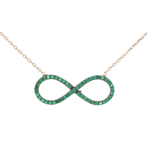 Turkish Infinity CZ Pendant Necklace