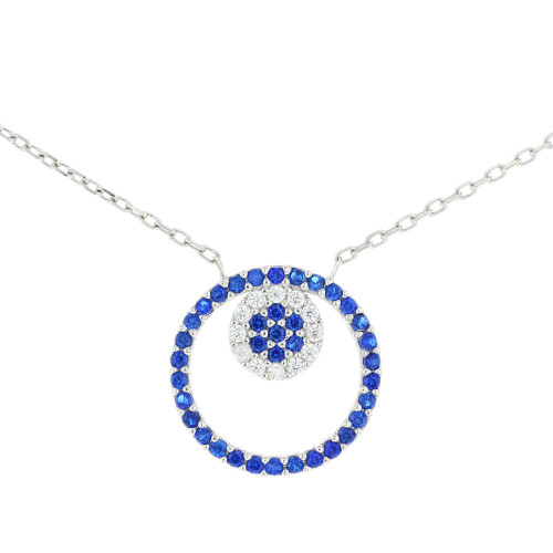 Turkish Flower Cubic Zirconia Pendant Necklace
