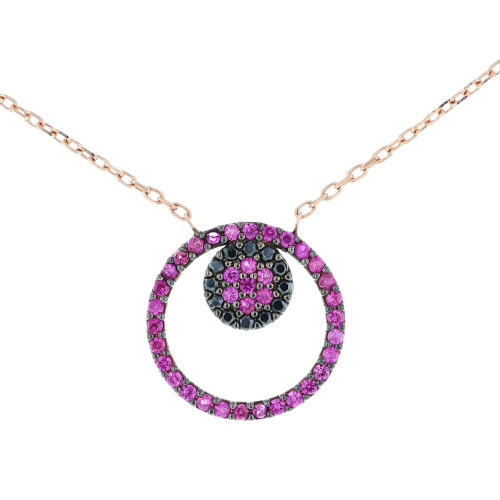 Turkish Flower CZ Pendant Necklace