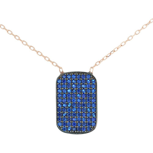 Turkish Tag Cubic Zirconia Pendant Necklace