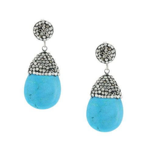 Turkish Drop Gemstone Earrings