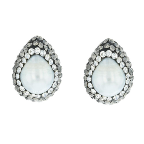 Turkish White Pearl Studs