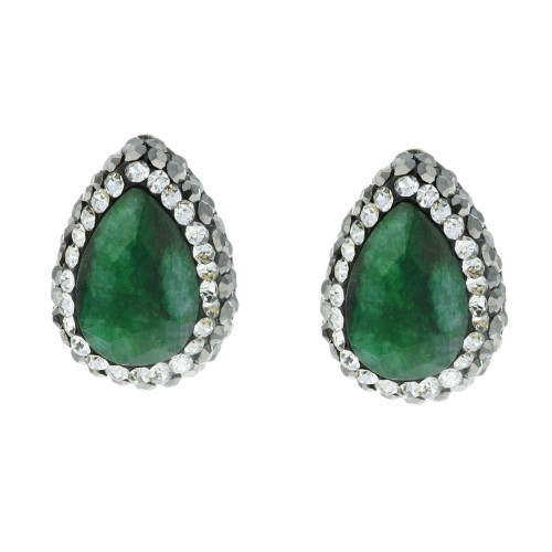 Turkish Green Gemstone Studs