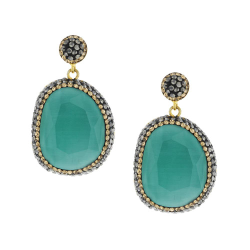 Turkish Aqua Chalcedony  Earrings