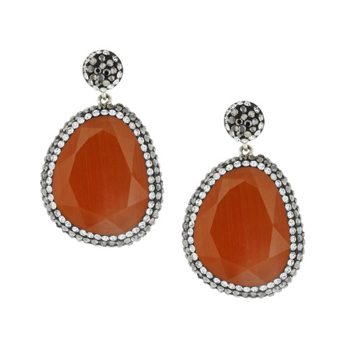 Turkish Chalcedony Gemstone Earrings