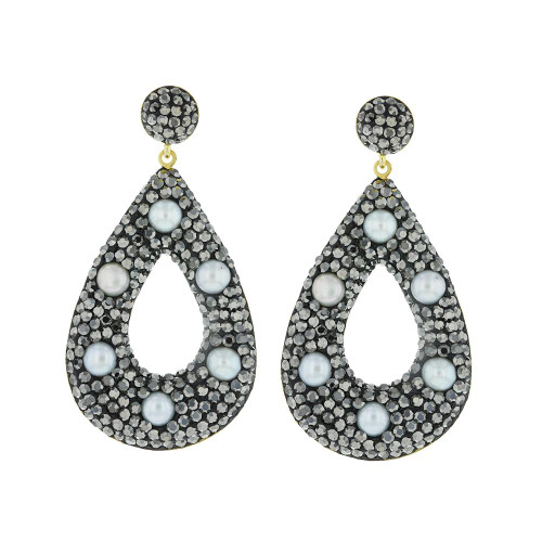 Turkish Pearl Gemstone Earrings