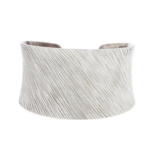 Turkish Brushed Silver Cuff