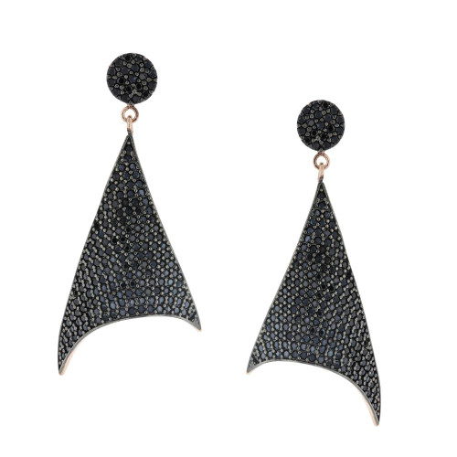 Turkish Black Cubic Zirconia Earrings