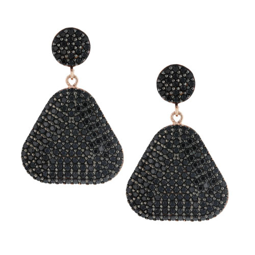 Turkish Black Nano Triangle  Earrings