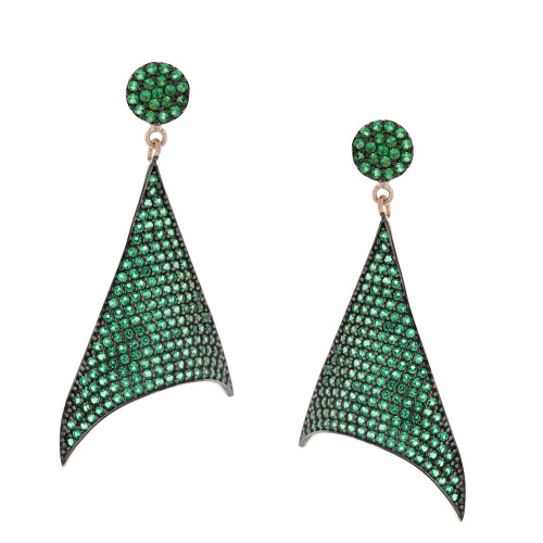 Turkish Nano Green Cubic Zirconia Earrings