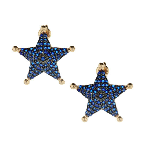 Turkish Blue Star Earrings