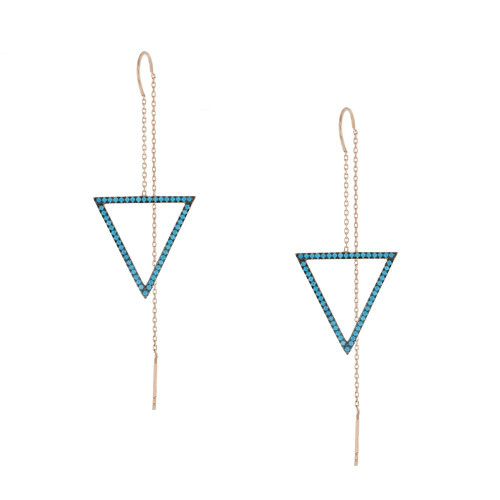 Turkish Threader Triangle Earrings