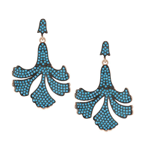 Turkish Blossom Nano Turquoise Earrings