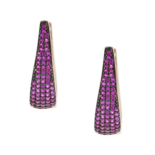 Turkish Pink Crystal Earrings
